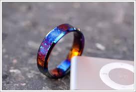 titanium colored rings images Textured and colored titanium rings jpg