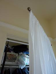 bathroom captivate white curtains ideas with classy swing arm
