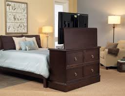 Bed Frame With Tv In Footboard Tv Lift Bed Frame Diy Pallet Custom Made Rustic Storage King With
