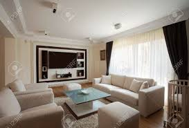 interior of a modern living room in white stock photo picture