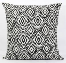 Black Pillow Cover 24x24 Throw Pillows Black And White Throw