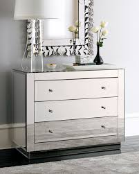 Mirrored Furniture For Bedroom by Modern Mirrored Furniture Set Of 2 Glam Mirrored Mirror Furniture