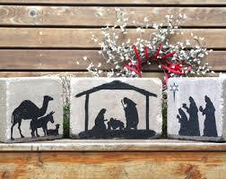 Outdoor Christmas Decorations Nativity Scene by Outdoor Nativity Set Etsy
