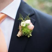 coral boutonniere coral wedding boutonnieres