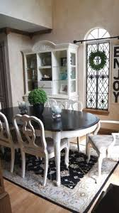 Kitchen Table Decorating Ideas by Refinish Dining Room Table Before And After White Base