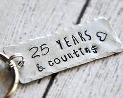 25 year anniversary gift 25th anniversary etsy