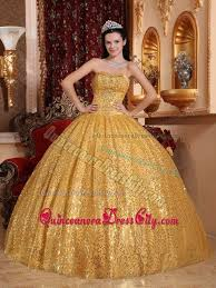 gold quince dresses beaded gold dresses for a quince with sequins skirt on sale