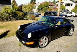 widebody porsche 911 1991 964 turbo 965 911 widebody in seattle black on tan
