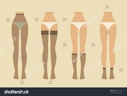 colorful vector illustration hosiery elements tights stock vector