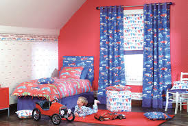 Boys Room Curtains Kids Fabric Sets For Cool Girls And Boys Bedroom Designs By