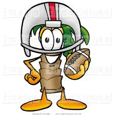 clipart of a palm tree mascot cartoon character in a sports helmet