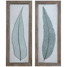 Tall Home Decor Amazon Com Uttermost 41514 Tall Leaves Framed Art Set Of 2