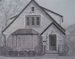 custom house drawing etsy