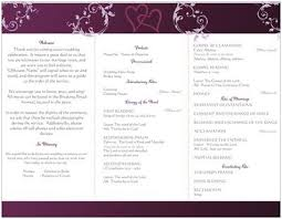 catholic wedding program best photos of lutheran wedding ceremony program template sle