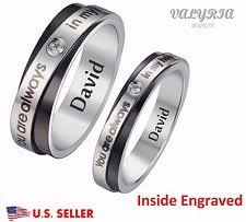 ring with name engraved personalized ring ebay