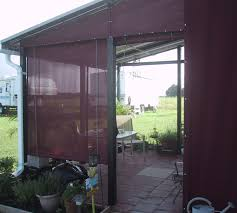 Clear Vinyl Patio Enclosure Weather Curtains by Drop Curtains U0026 Solar Screens