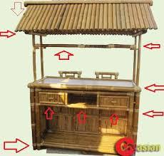 Tiki Patio Furniture by 3 Piece Bamboo Patio Tiki Bar Stool Set Creasian U0027s Bamboo Bar