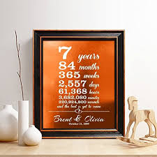 monogrammed anniversary gifts personalized 7th copper anniversary gift for him or