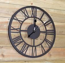 gardman horloge à chiffres romains jardin