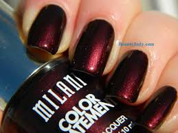 milani cosmetics enchanted garnet bedazzled color statement nail