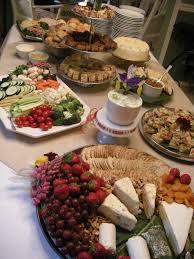 food ideas buffet ne wall