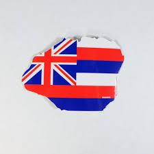 Hawaiian Flag Kauai Hawaii Flag Sticker U2013 Liquid Shelter U0027art Clothing And