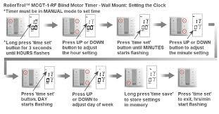 Blinds Timer Timer Operation Of Motorized Blinds U0026 Shades