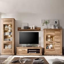 Wohnzimmer Nussbaum Nussbraun Weiß Schrankwand Haus Design Möbel Ideen Und