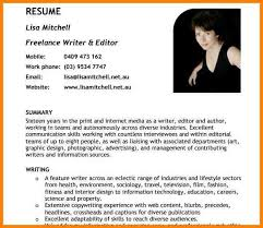 Writer Resume Template 10 Writer U0027s Resume Foot Volley Mania