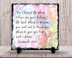 slate sign pastel feminine bible verse jeremiah 29 11 i know the
