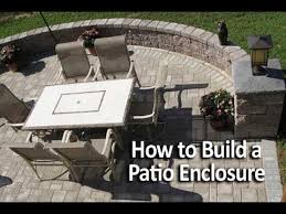 Building A Patio by How To Build A Patio Enclosure With Seating Walls Youtube