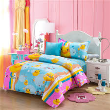 Anime Bed Sheets Rubber Duck Comforters And Quilts Kids Bedding Set Anime Bed