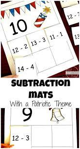 free patriotic subtraction mats