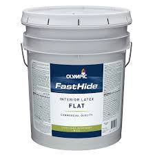 shop fasthide 5 gallon interior flat off white latex base paint at