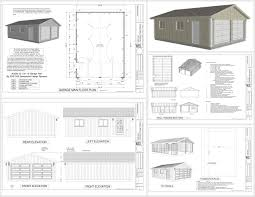 home design dwg download g529 22 x 30 x 8 garage plans dwg and pdf rv garage plans