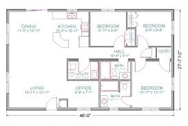 Floor Plans For 1500 Sq Ft Homes 100 Ranch Style Open Floor Plans Mascord House Plan 1250