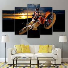 motocross supercross dirtbike air stunt multi panel canvas wall you won t find something like this anywhere