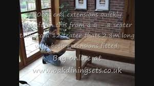 solid oak refectory table 8 10 12 seater youtube