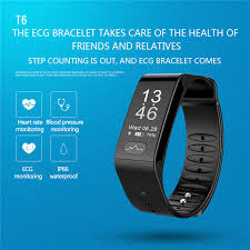 monitoring health bracelet images T6 medical grade blood pressure heart rate monitoring fitness jpg