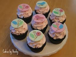 cakes by becky love bird baby shower cupcakes