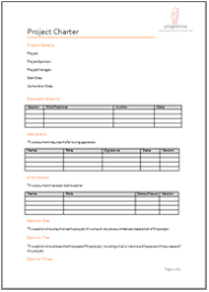 programme project tools project initiation document templates