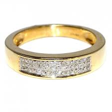 gold mens wedding band diamond mens wedding band ring 14k yellow gold 0 50ct 5 5mm wide