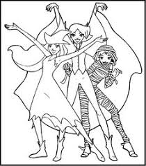 totally spies coloring pages party