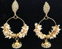 gold jhumka hoop earrings jhumka hoop earrings etsy