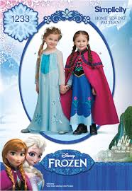 frozen costume simplicity 1233 disney s frozen costume for children