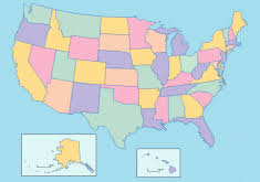 usa map with names us map without names my