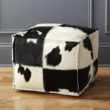 Cowhide Chairs And Ottomans Cowhide Furniture Cb2