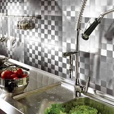 metal backsplash tiles for kitchens peel and stick on wall metal backsplash tile 12 x12 set of 10