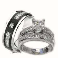 titanium wedding band sets wedding favors best men and women wedding band sets