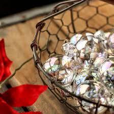 iridescent glass ornaments ornaments
